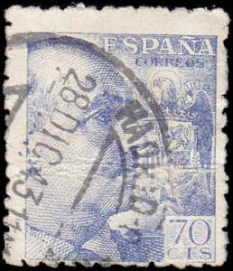 Spain Scott 701 General Franco Used