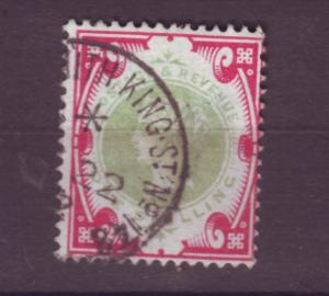 J17674 JLstamps 1887-92 great britain used #126 queen $145.00 scv