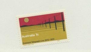 Australia Stamp Scott #526, Overland Telegraph Line Issue From 1972