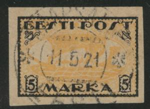 Estonia Scott 35 used from 1919-1920 set Viking Ship