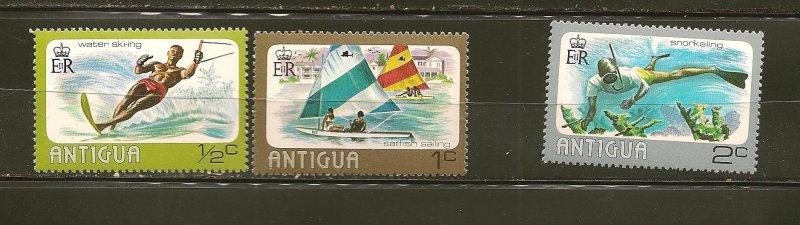 Antigua 438-440 Water Sports MNH