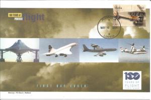 100 Years Of Flight FDC - Royal Aircraft Factory B.E.2c - 2004 liberia Z5510