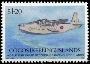 Cocos Islands #264-266, Complete Set(3), 1992, Military Related, Never Hinged