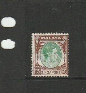 Singapore 1948/52 GV1 Defs P14 $5 VFU SG 15