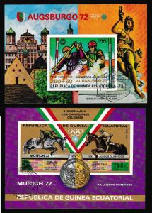 Eq. Guinea Olympic Games Munich 2 MSs CTO