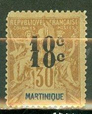 B: Martinique 54a mint CV $525