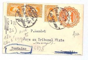 EGYPT PETITE STATIONERY E France Re-directed *Fontaine*Grenoble PRETTY 1929 GJ21
