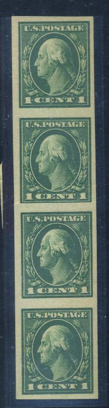 408V MINT Paste up strip of 4 F-VF OG NH Cat$20