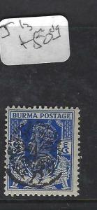 BURMA JAPANESE OCCUPATION   (PP0805B) ON INDIA KGVI  SG J13  MOG