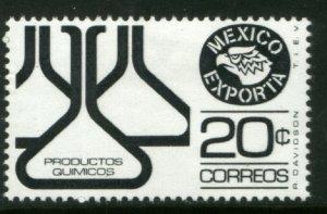 MEXICO Exporta 1110, 20¢ Chem flasks Unwmkd Fosfo Paper 6. MINT, NH. VF.