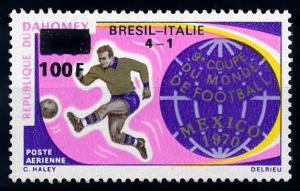 [69058] Benin Dahomey 1970 World Cup Football Soccer Overprint MNH