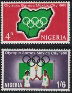 Nigeria Olympic Games Mexico 2v SG#213-214