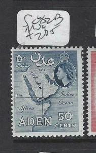 ADEN (P0204B)  QEII  50C  MAP  SG 82B   MOG