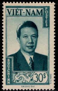 Vietnam Scott 13 MH* Bao-Dai stamp 1951 disturbed gum Pencil Mark