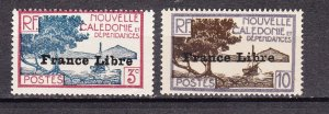 J25605 JLstamps 1941 new caledonia mh #219,222 ovpt,s