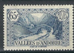 Andorra (French) 42 YT 68 MVLH F/VF 1938 SCV $18.50