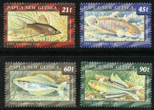 Papua New Guinea Scott 771-74 MNHOG - 1991 S. Pacific Games Set - SCV $11.85