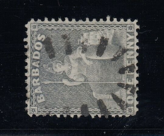 Barbados, SG 74a (Scott 51c), used Watermark Sideways variety