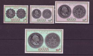 J24427 JLstamps 1965 ghana mnh set #212-15 coins