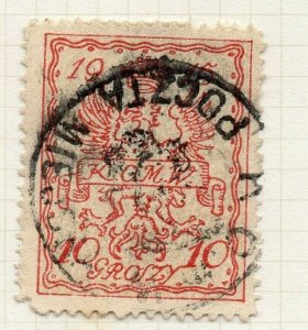 Poland Warsaw 1915 Early Issue Fine Used 10gr. Postmark NW-14427