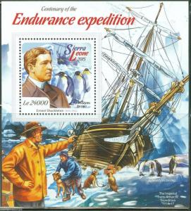 SIERRA LEONE 2015 CENTENARY OF THE ENDURANCE EXPEDITION SHACKLETON S/S MINT NH