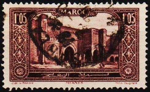 Morocco(French). 1917 1f05 S.G.142 Fine Used