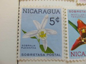 Nicaragua 1962 Orchids 5c fine mng postal tax stamp A11P11F95