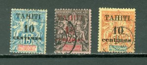 TAHITI #29-31...SET...USED NO THINS...$35.00