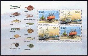 Ireland MNH S/S 845a Fishing Fleet 1991