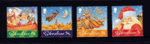 Gibraltar 1995  # 698-701 MNH Christmas set