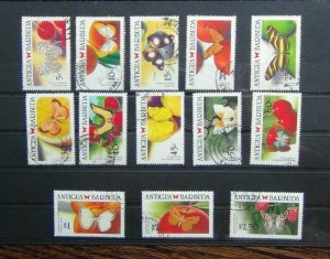 Antigua 1988 Caribbean Butterflies values to $2.50 Used