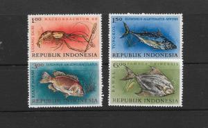FISH - INDONESIA #589-592  MNH