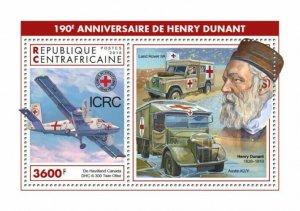 HERRICKSTAMP NEW ISSUES CENTRAL AFRICA Henry Dunant S/S