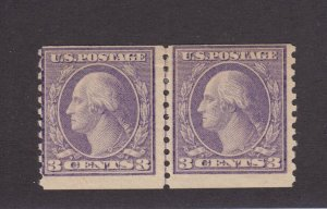 494 Line pair F-VF mint never hinged with nice color cv $ 160 ! see pic !