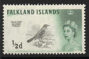 FALKLAND ISLANDS SG193 1960 ½d BLACK & MYRTLE-GREEN MNH