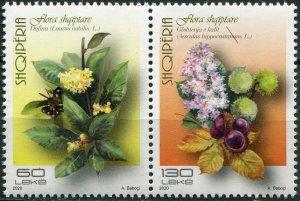 Albania 2020. Native flora (MNH OG) Block of 2 stamps