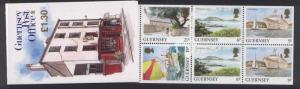 Guernsey 453a-b Booklets B43-4 MNH Archtiecture, Yacht