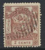 North Borneo  SG 38 Brown   CTO  please see scans & details