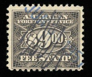 01795 U.S. Revenue Scott RK38 $9 Foreign Consular Service, perf. 11, SCV = $35