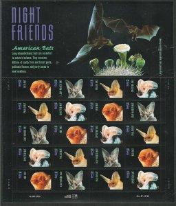 PCBstamps  US #3661/3664 Sheet $7.40(5x4x37c)American Bats, 2002, MNH, (4)
