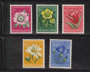 Netherlands # B238-242, Flowers, NH, 1/2 Cat.