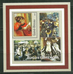 Guinea-Bissau MNH S/S Renoir Paintings 2001