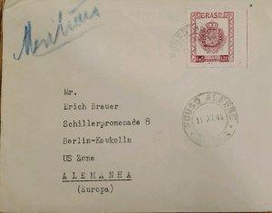 A) 1948, BRAZIL, SINGLE RATE, 5TH NATIONAL EUCHARISTIC CONGRESS, PORTO ALEGRE, A