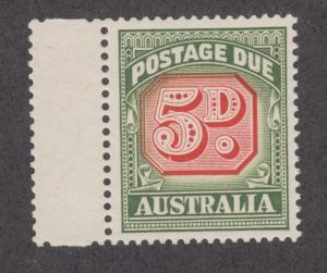 Australia Sc J90a MNH. 1959 5p Postage Due, type II, XF