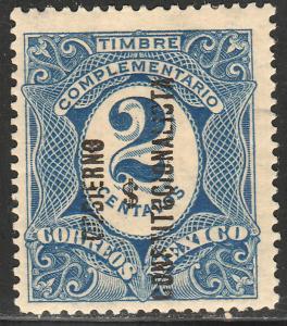 MEXICO 435, 2c REVOLUT OVPT GOBIERNO $ CONSTITUC... UNUSED OG. F-VF.