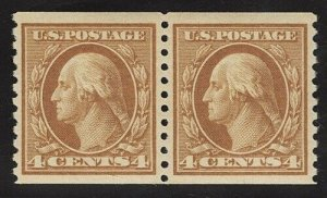 United States Scott No 495 Mint NH, XF, Pair