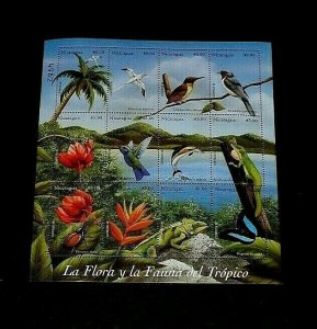 TOPICAL, ANIMALS, 1998, NICARAGUA, SHEET/12, MNH, LOT #23, LQQK