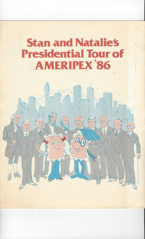 Stan & Natalie's Presidential Tour of AMERIPEX 86, USPS Folder