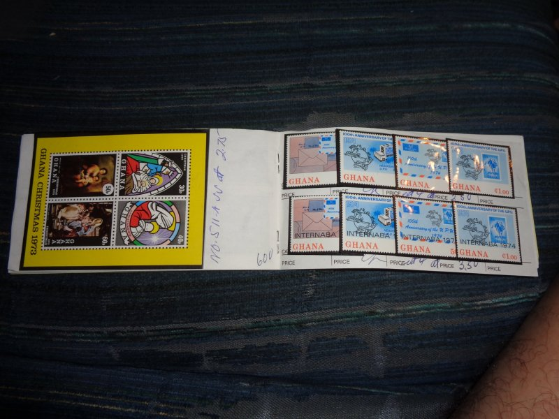 GHANA COLLECTION IN APPROVAL BOOK, ALL MINT, MOSTLY MNH