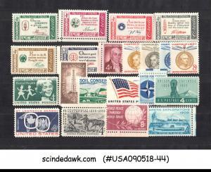 UNITED STATES USA - 1959-61  COMMEMORATIVE STAMPS SC#1124-36, 1139-44 21V MNH